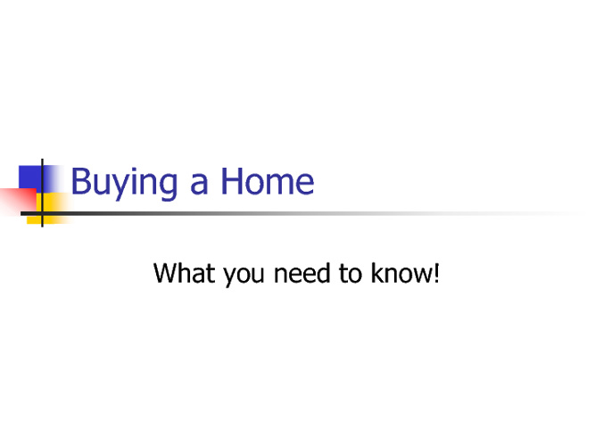 Buying a Home PF