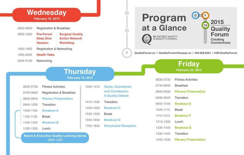 QF15 Program at a Glance