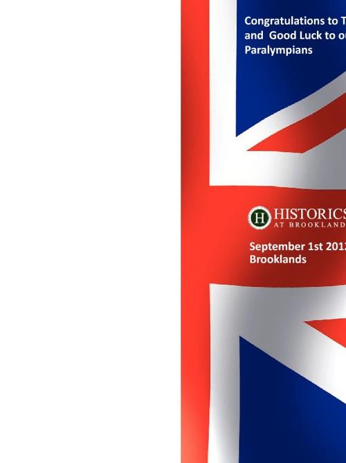 Historics 1st September 2012