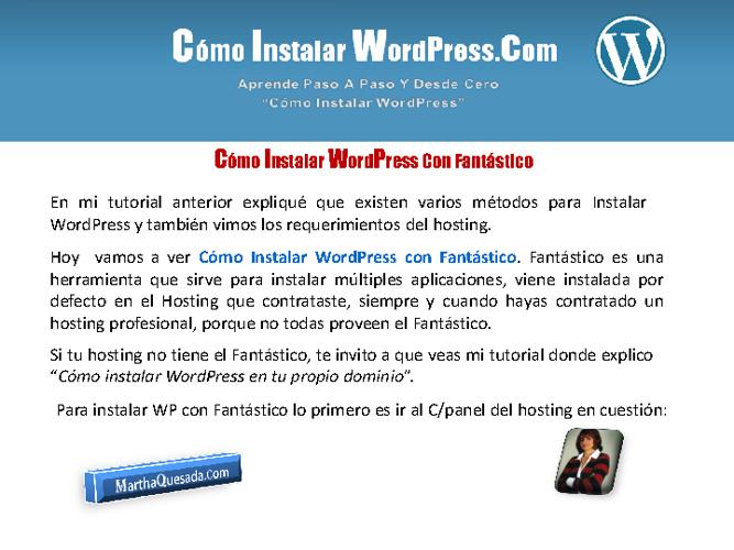 Como Instalar WordPress Con Fantástico