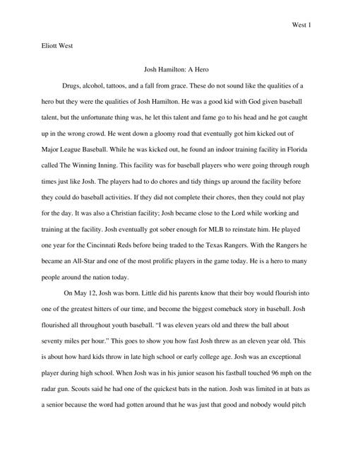 Josh Hamilton Paper
