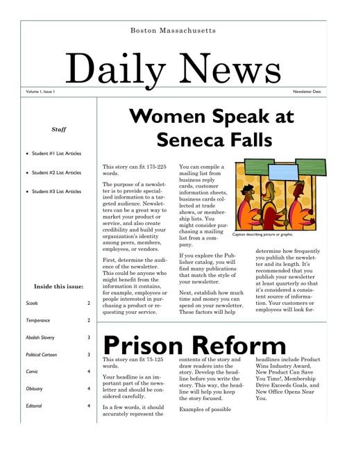 Newsletter Pennington