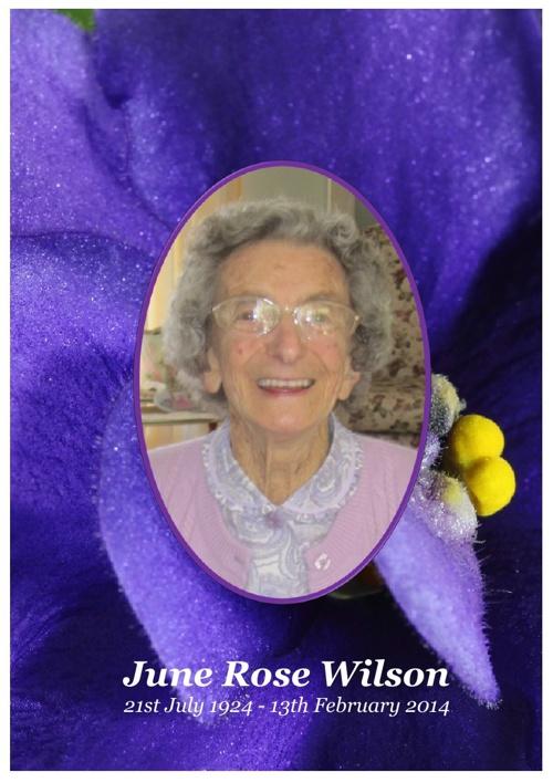 4 Order of Service for June Rose Wilson V1