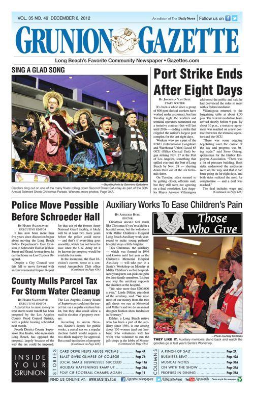 Grunion Gazette | December 6, 2012