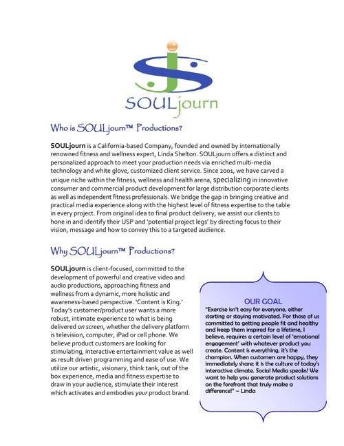 SOULjourn E-BROCHURE FLIPBOOK 2013
