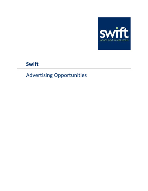 Swift Corporate Marketing Manual