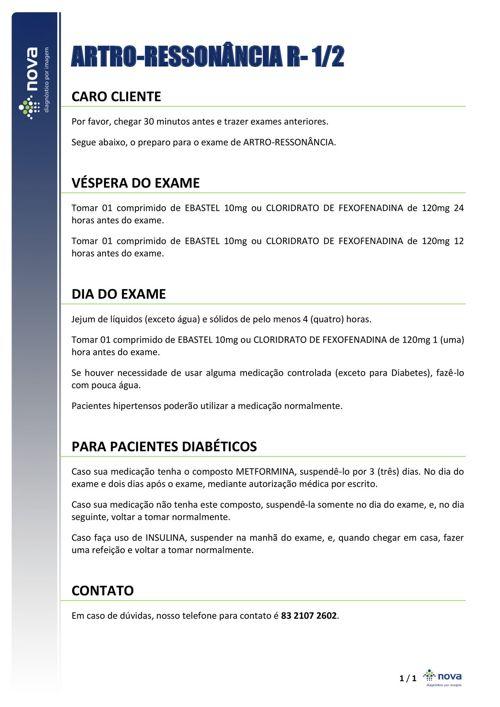 07 PREPARO ARTRORM RISCO 1 E 2