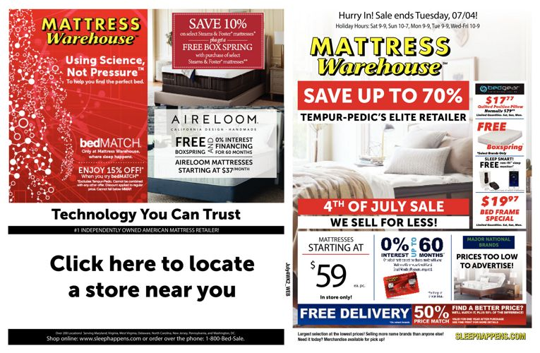 Mattress Warehouse 4th of July Sale