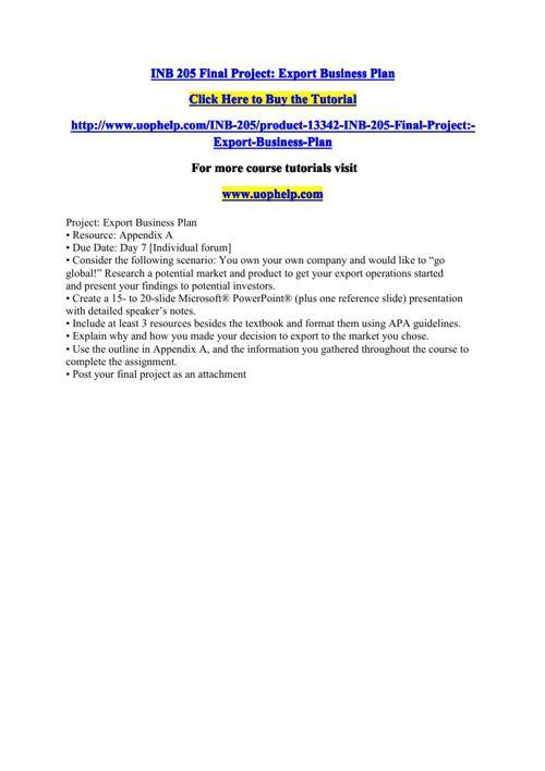 INB 205 Final Project