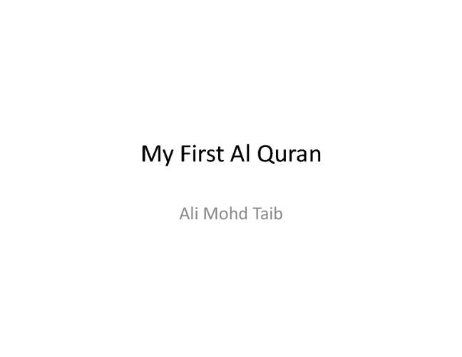 My Firts Al Quran Kid