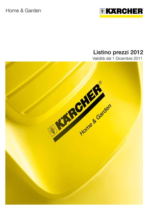 Listino Kaercher Home and Garden 2012/2013