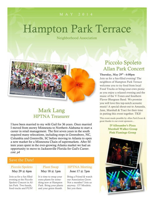 HPT Newsletter May 2014