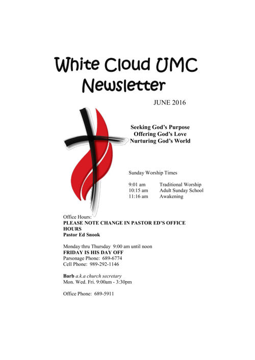 June newsletter 2016