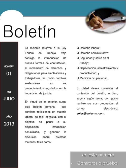 Boletín 1 Julio