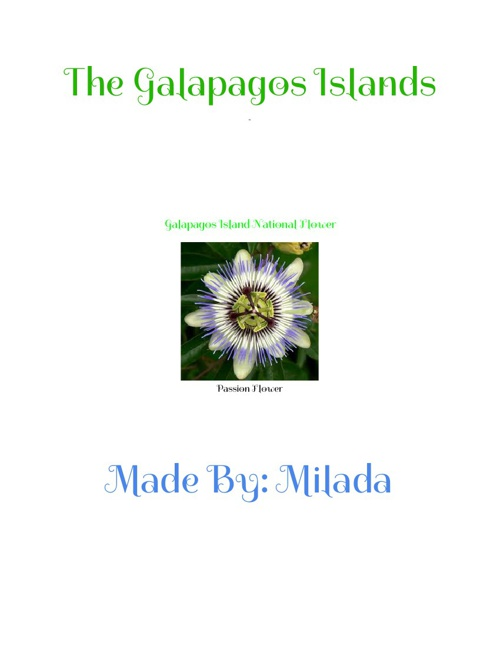 Milada Chazen's Galapagos Islands E-Book