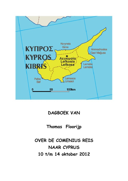 Diary of trip to Cyprus by Yoek