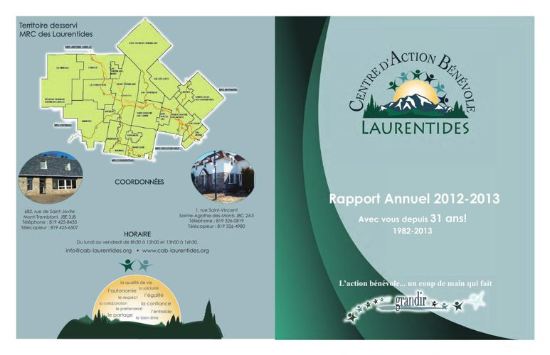 Rapport annuel_CABL_2012-2013-2