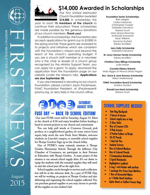 August News from First United Methodist Church