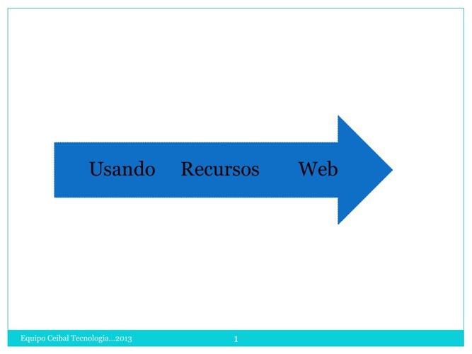 Trabajando con recursos Web