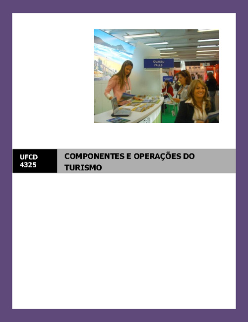 COMPONENTES E OPERAÇÕES DO TURISMO