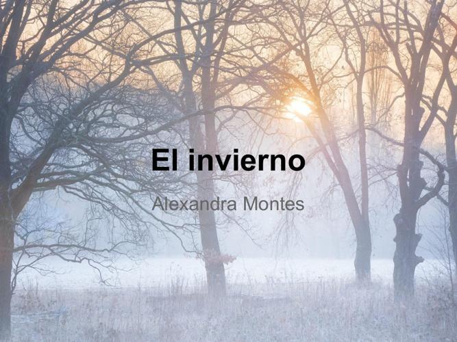 El invierno - Alexandra Montes