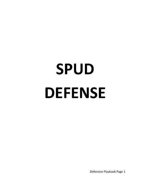 SPUD 2011 Playbook