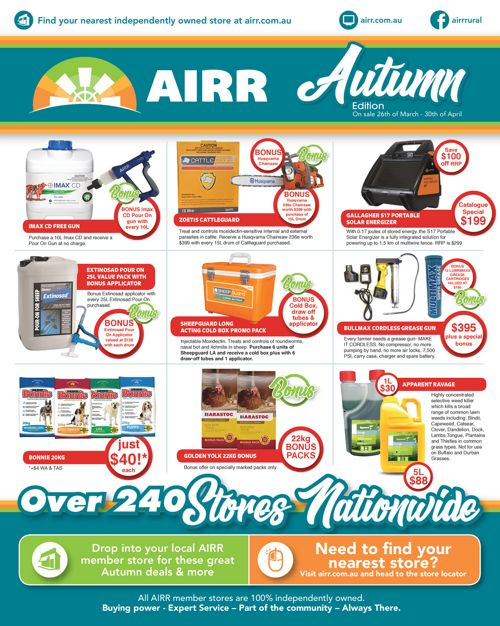 AIRR Autumn Catalogue 2018 National