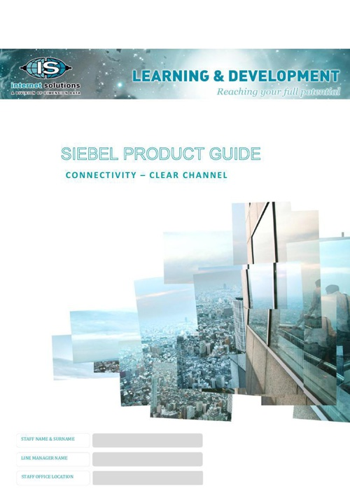 Siebel Guide - Connectivity - Clear Channel