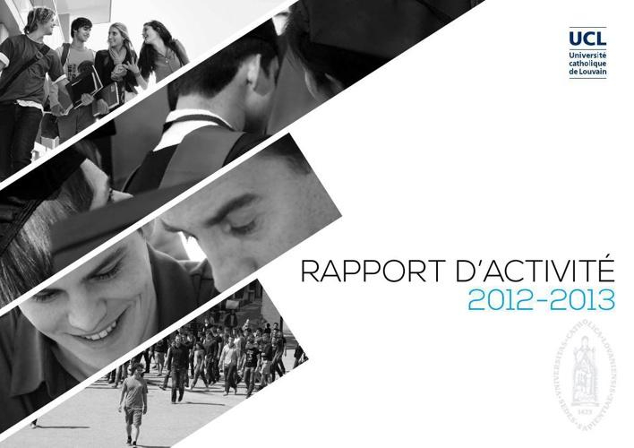 Rapport d'activités UCL 2012-2013