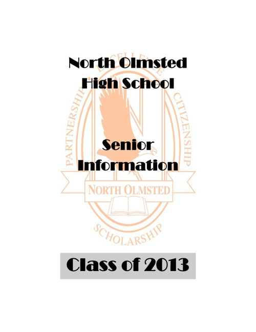 Senior Information Packet 2013