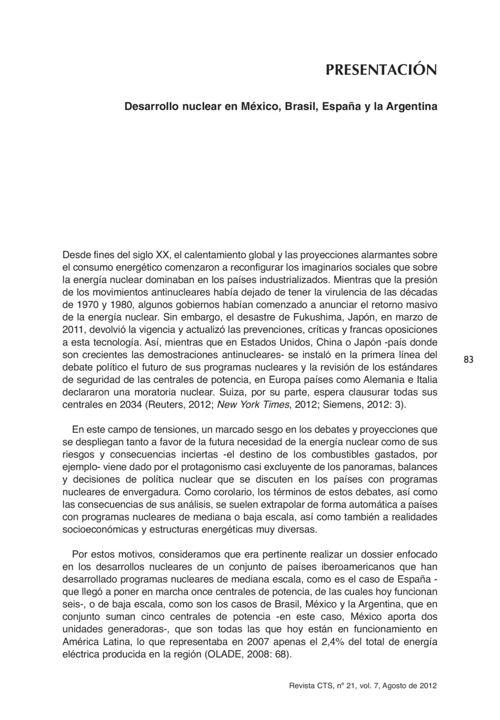 VOL07/N21 - Presentación