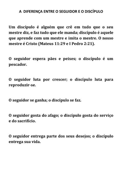 Carta à liderança da igreja