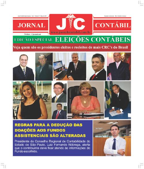 Jornal Contábil Edição de Março 2012