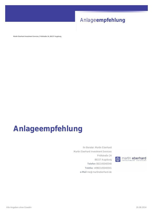 Entnahmeplang Beispiel 100.000 Euro