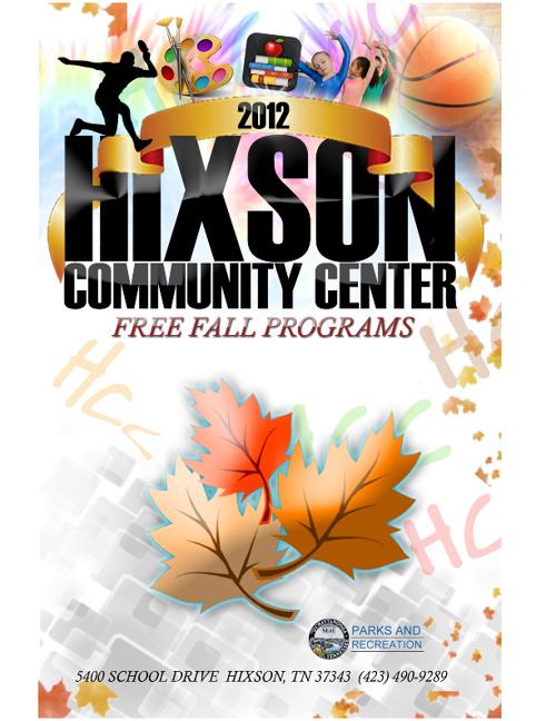 Hixson Community Center Fall Schedule