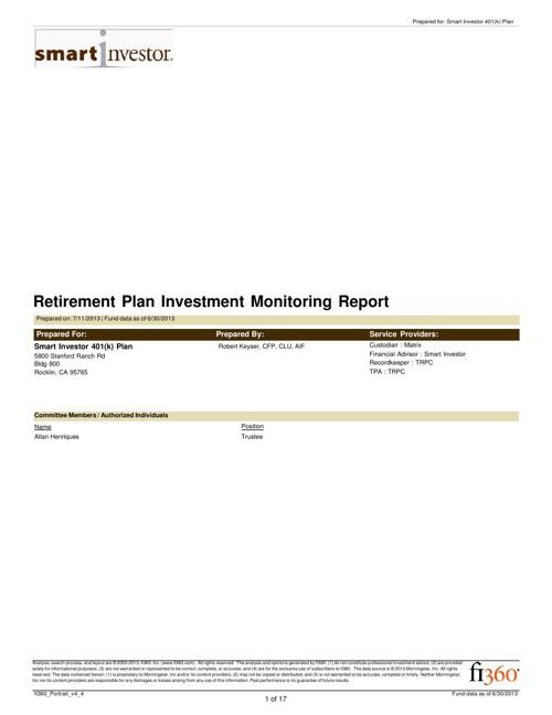 Smart Investor Quarterly Review