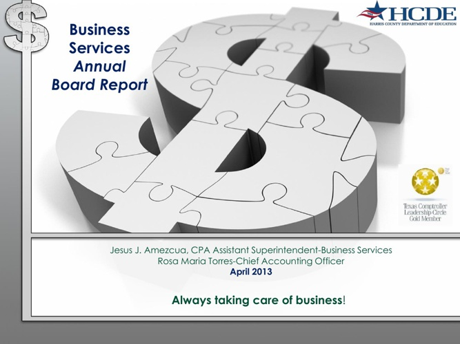 2013 Business Services Annual Report