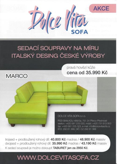 Akční leták Dolce vita sofa do 31.12. 2013