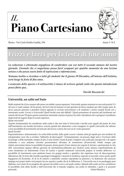 IL PIANO CARTESIANO anno 1 numero 2