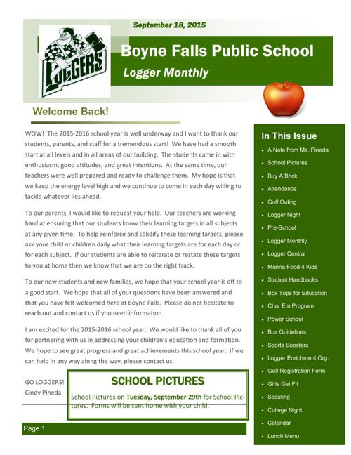 September 18, 2015 Logger Monthly
