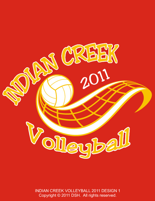 Indian Creek Volleyball 2011 Design Samples