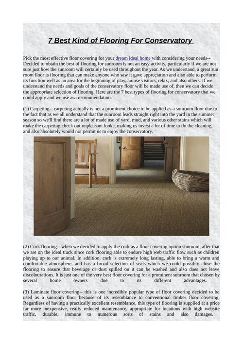 7 Best Kind of Flooring For Conservatory