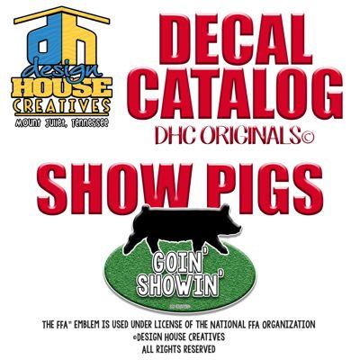 DESIGN HOUSE CREATIVES SHOW PIG DECAL CATALOG