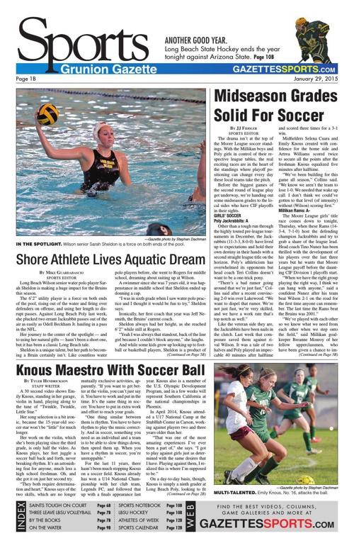 Grunion Sports  | January 29, 2015
