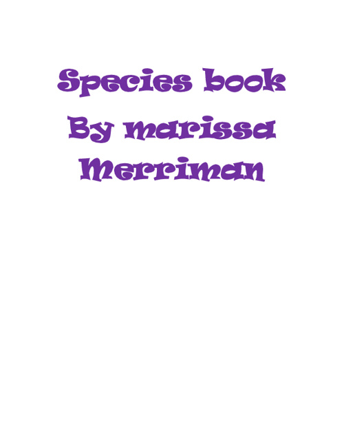 Marissa's Species Book