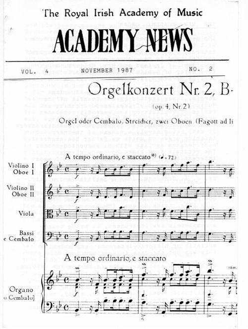 Academy News November 1987