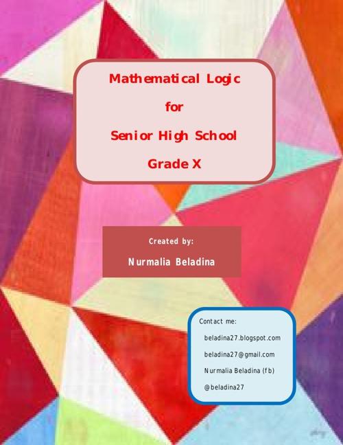 Mathematical Logic for Senior High School
