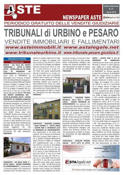 Pesaro Urbino aprile 2015