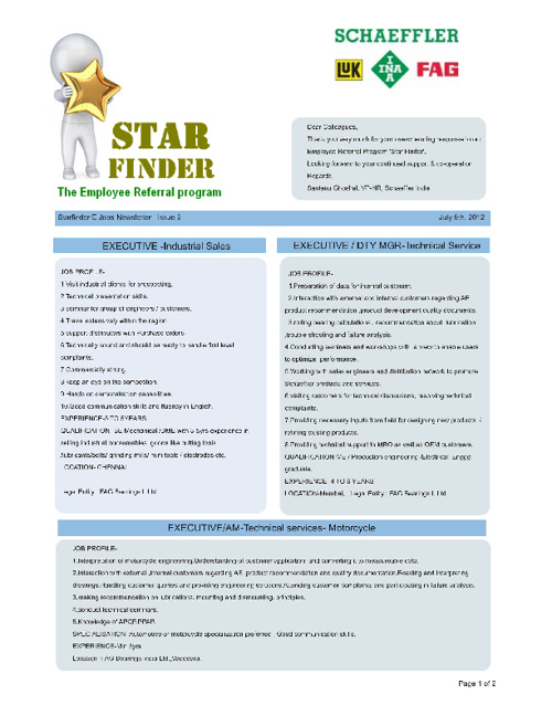 StarFInder EJobNewsletter