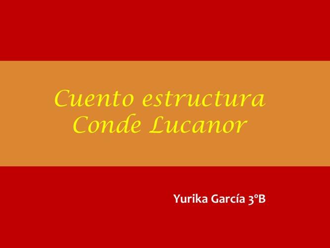 Cuento Estructura Conde Lucanor